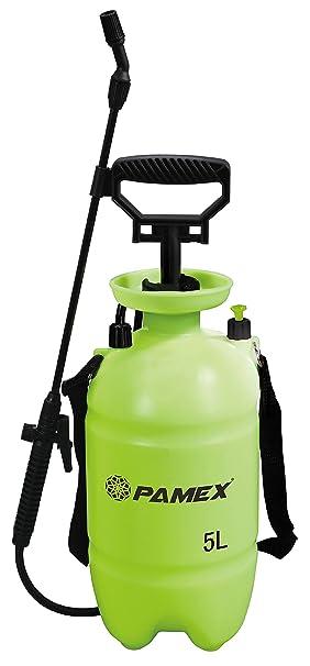PAMEX Botella 5 litros Pulverizar Sulfatar Bomba de Presión Vaporización Pulverizador: Amazon.es: Jardín