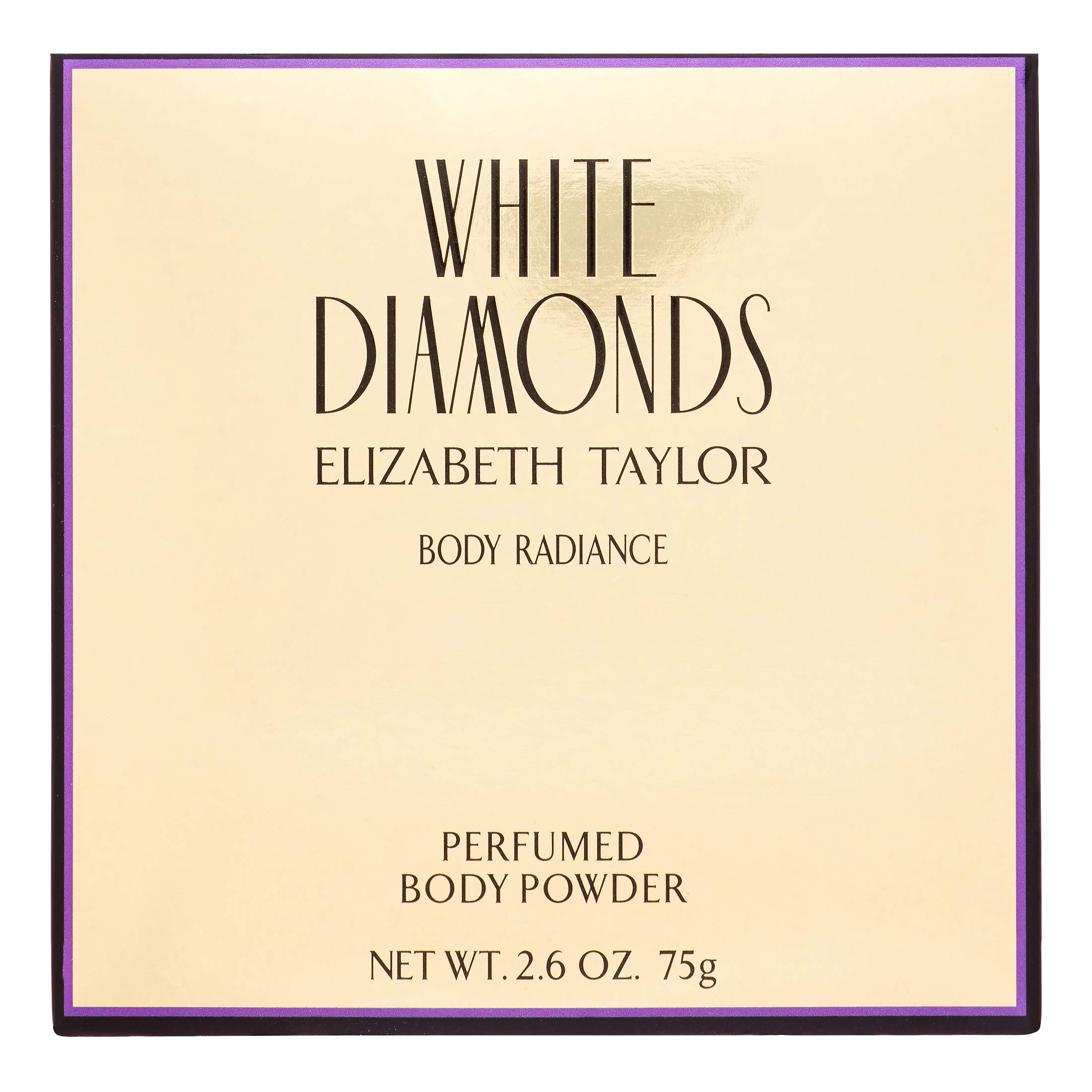Elizabeth Taylor White Diamonds Body Radiance Perfumed Body Powder 2.60 oz (Pack of 4)