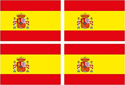 Custom Vinyl Español Bandera Nacional de España Espana 2