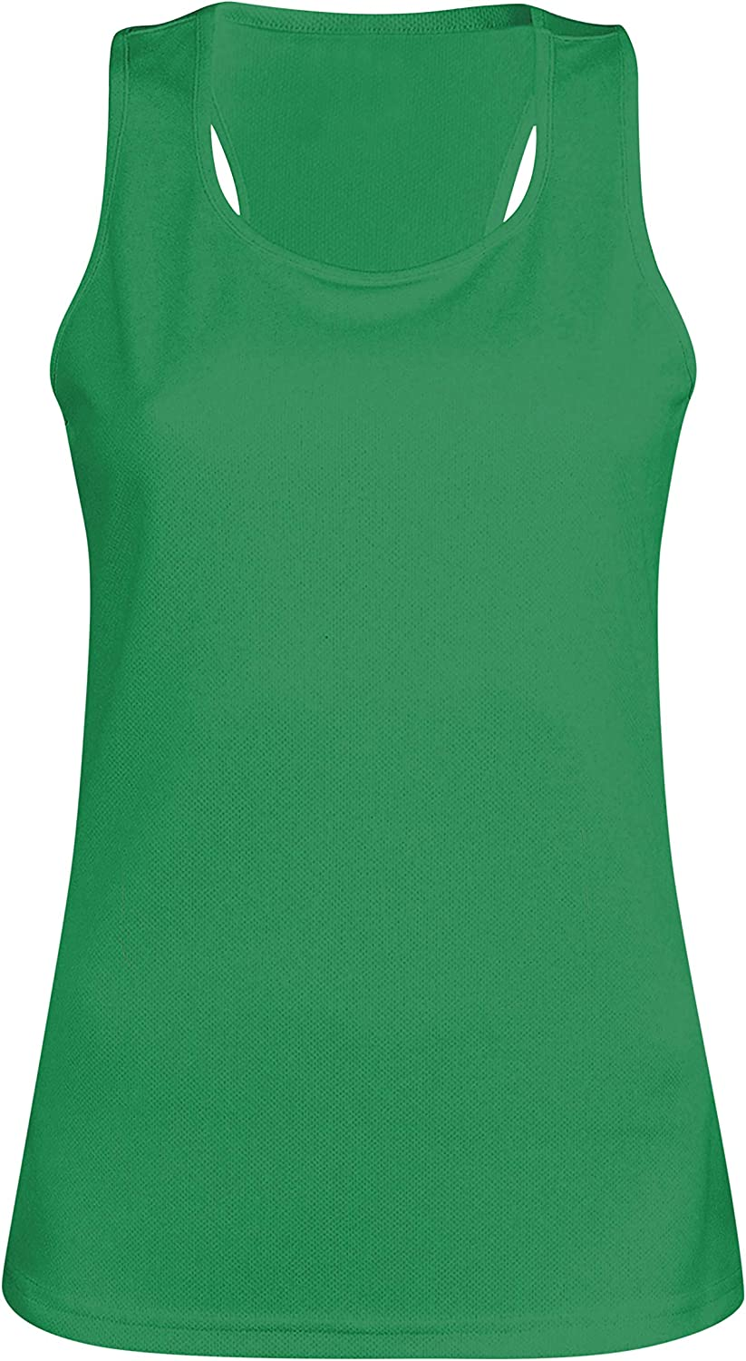 MKR Womens Quick Dry Breathable Sports Running Jogging Fitness Yoga Gym Vest Top