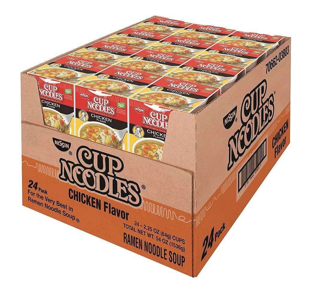 Nissin - Cup Noodles, Chicken, 2.5 oz Cup, 24 per Carton 827961 (DMi CT