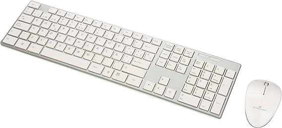 Bluestork BS-PACK-EASY-II/SP - Pack de teclado y ratón inalámbrico v.2, color blanco y plateado: Amazon.es: Informática