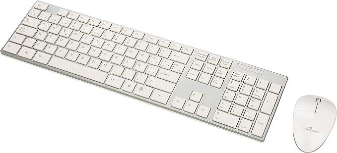 Bluestork BS-PACK-EASY-II/SP - Pack de teclado y ratón inalámbrico v.2, color blanco y plateado