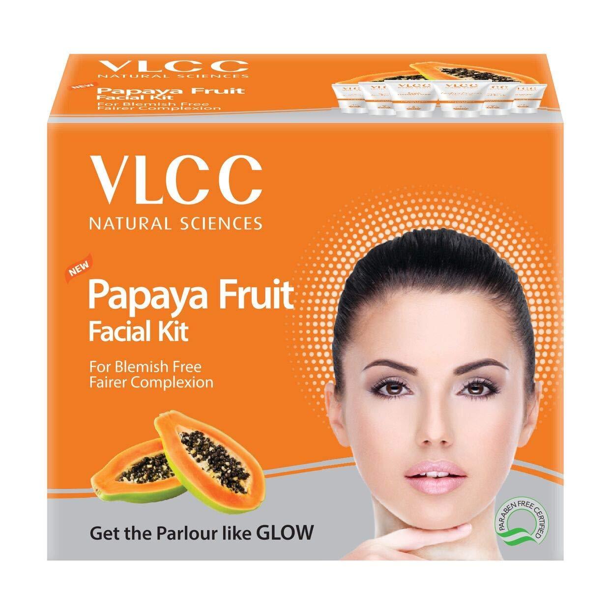 Amazon.com: VLCC Papaya Fruit Facial Kit 11 g (Set of 11): Beauty