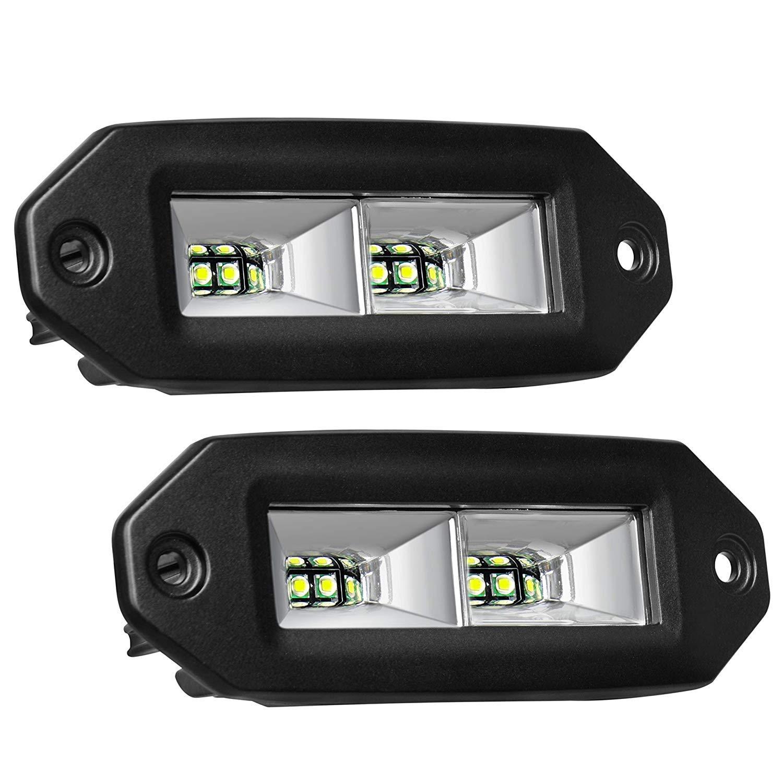 YEEGO 5 Phare de Travail 96W 9600LM LED Phare LED Voiture Phare pour Camion 2 Pi/èces Feux Antibrouillard Off Road 4x4 LED Projecteur Voiture 2 Ans de Garantie