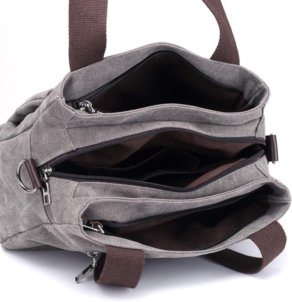 322214CM Reasonable Layout Mihaojianbing Handbag Wear Resistant Canvas Bag for Women Fashion Solid Color Crossbody Bag Shoulder Bag Multi-Pocket Daily Casual Tote