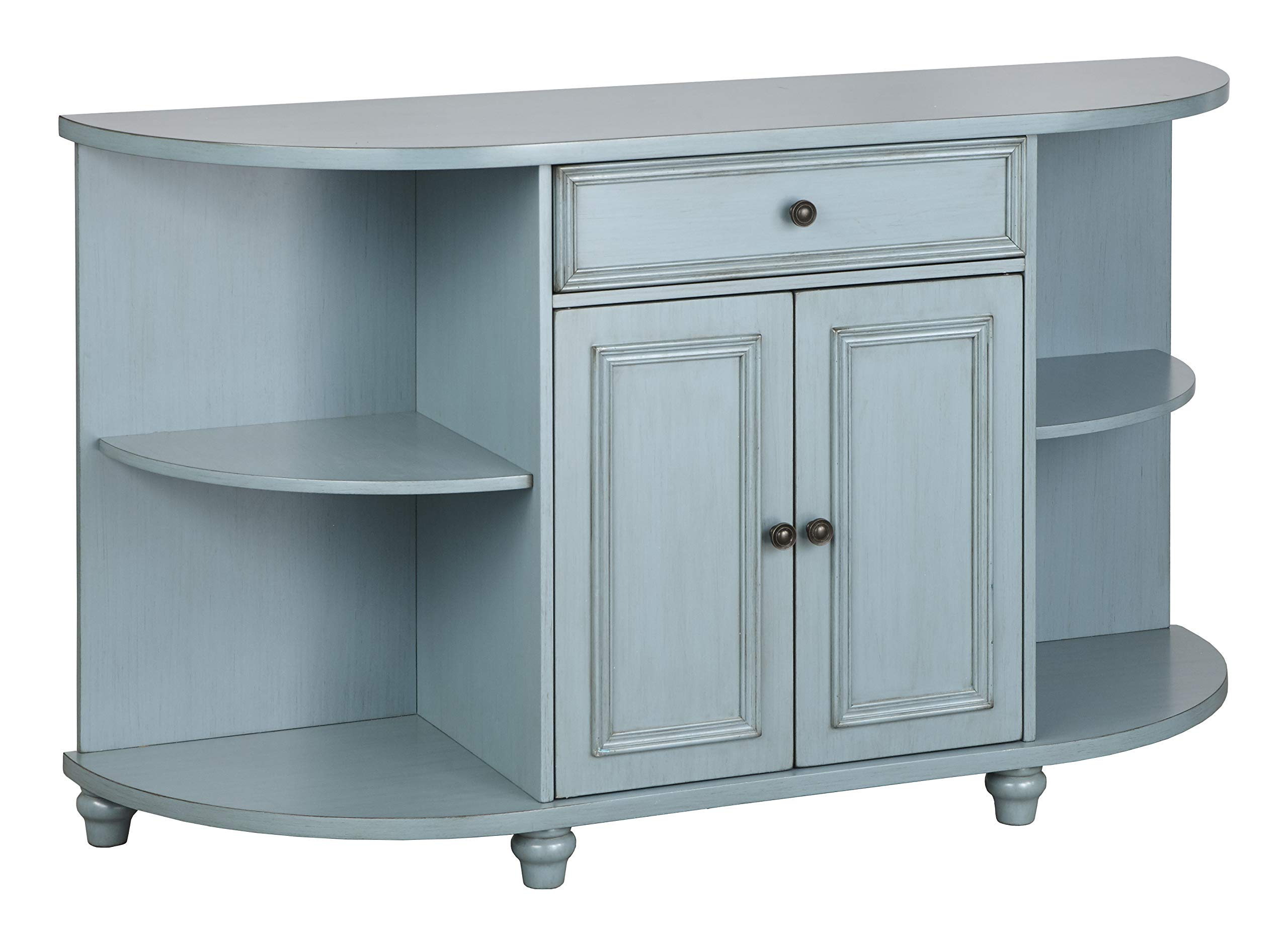The Mezzanine Shoppe 51000BLU Grace Mid Century Modern 2 Door Dining Room Buffet, 60'', Blue