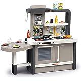Theo Klein 9155 Cocina Miele Gourmet,nternational, Cocina de juguete que, placa de cocción con módulo de sonido a pilas, horno, lavavajillas y mucho más, a partir de 3 años, 120 cm x