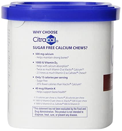 Amazon.com: Citracal Sugar Free Chocolate Chews, 60 Count: Health & Personal Care