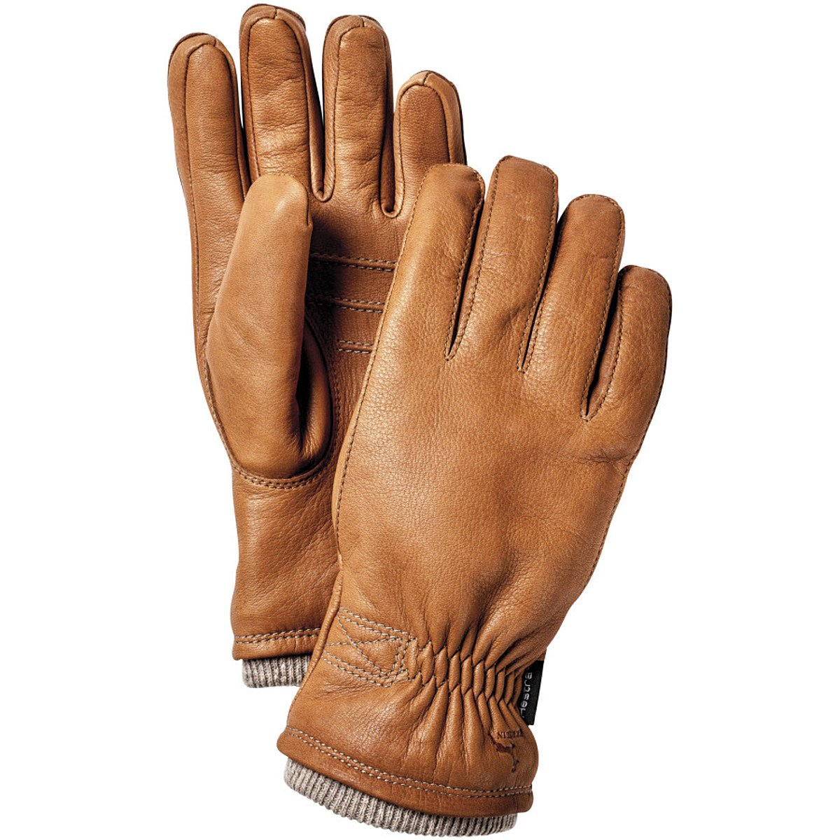 Hestra Deerskin Swisswool Rib Cuff Leather Driving Glove,Cork,11