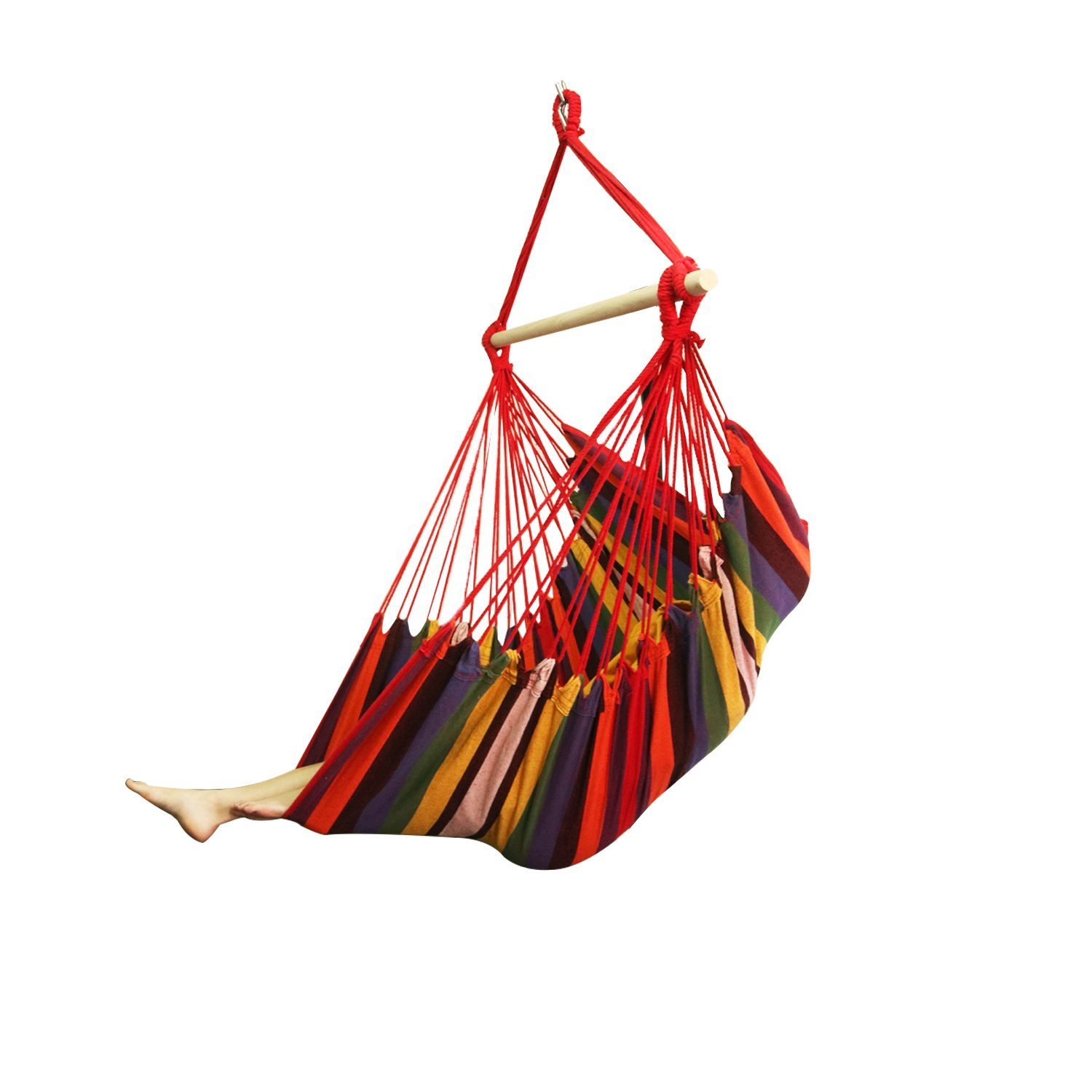 EverKing Large Brazilian Hammock Chair - Quality Cotton Weave for Superior Comfort & Durability - Extra Long Bed - Hanging Chair for Yard, Bedroom, Porch, Indoor, Outdoor