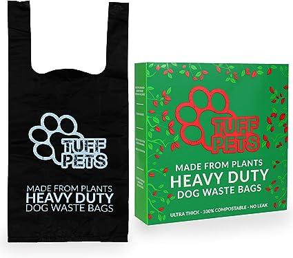 Tuff Pets Compostable Poo Bolsas para Perros | Biodegradable Doggy ...