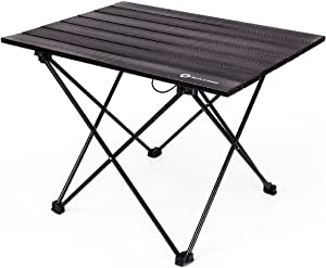 Triwonder Ultralight Aluminum Folding Camping Table Collapsible Portable Roll-Up for Outdoor, Camping, Picnic, BBQ, Beach, Fishing