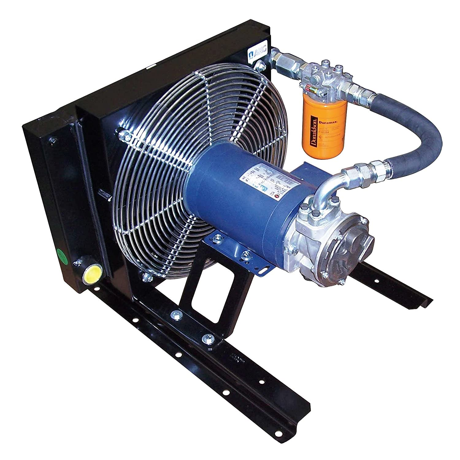 Black 18.9 x 23.6 x 24 230//460 Volt Forced Air Oil Cooler AP20-4041 AKG Thermal Systems