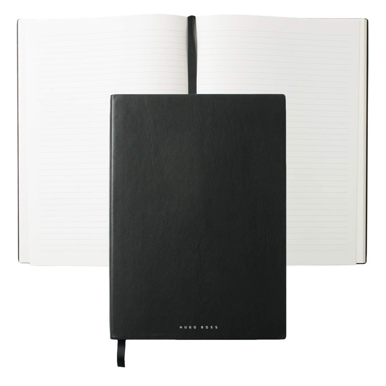 Hugo Boss HNF808A A4''Stripe'' Notepad - Black