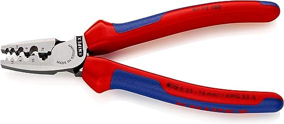 KNIPEX 97 72 180 Alicate para entallar punteras con fundas en dos componentes 180 mm: Amazon.es: Bricolaje y herramientas