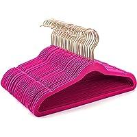 HOUSE DAY Premium Kids Velvet Hangers (Pack of 60) with Gold Hooks,Space Saving Ultra Thin,Non Slip Hangers use for…