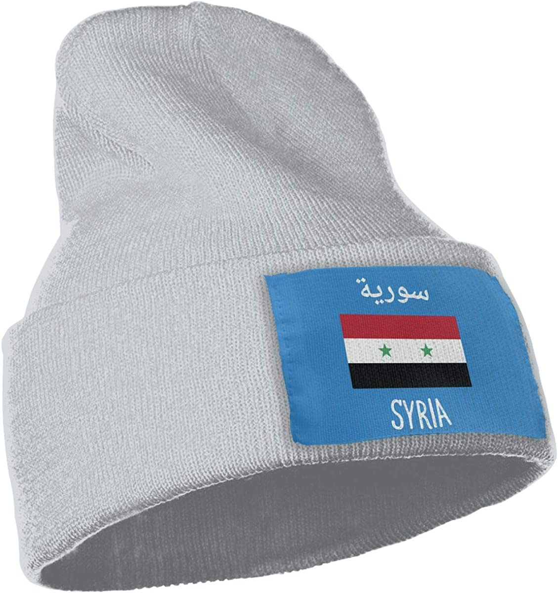 COLLJL-8 Men /& Women Syria Flag Outdoor Stretch Knit Beanies Hat Soft Winter Knit Caps