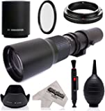 Super 500mm/1000mm f/8 Manual Telephoto Lens for Pentax K-1, K-S2, K-S1, K-500, KP, K-70, K-50, K-30, K5 IIs, K-7, K-5, K-3 II, K-2, K-X, K20D, K100D, K110D and K10D Digital SLR Cameras