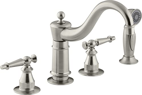 KOHLER K-158-4-BN Antique Kitchen Sink Faucet, Vibrant Brushed Nickel