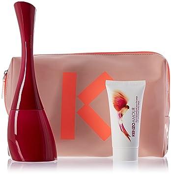 18d9816c Amazon.com : Kenzo Amour 3 Piece Gift Set for Women (Eau de Parfum Spray  Plus Soft Perfumed Body Lotion Plus Pouch) : Fragrance Sets : Beauty
