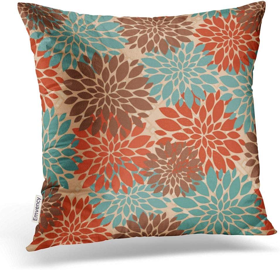 Amazon.com: Accrocn Throw Pillow Covers Unique Elegant Orange Teal