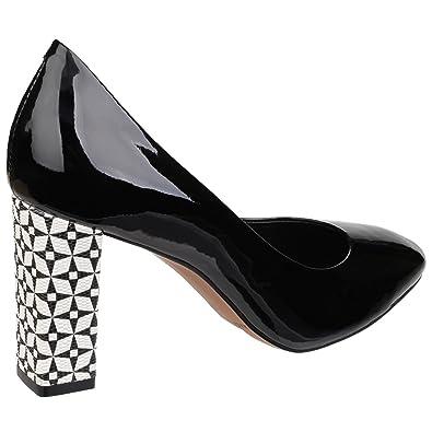 Amazon RIVA WomensLadies Bosa Patent Patterned Heel Shoes Pumps Fascinating Patterned Heels