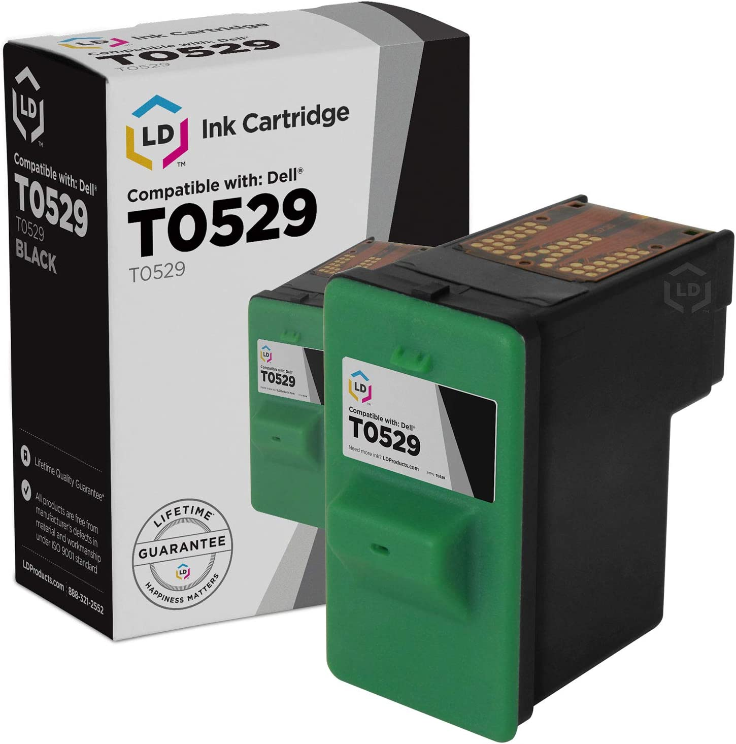 LD Remanufactured Ink Cartridge Replacement for Dell T0529 Series 1 (Black)