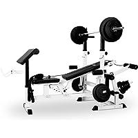 Klarfit KS02 - Station de musculation avec banc, Curl-Pult, Butterfly, porte-haltères, câbles d'étirement pour un entrainement complet