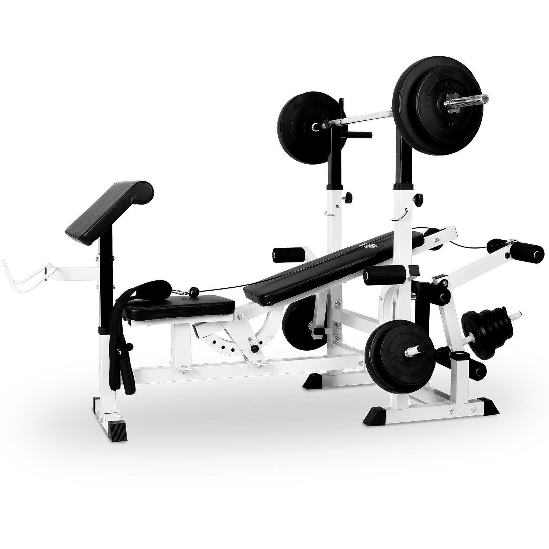 Klarfit FIT KS banco de musculación con curler entrenamiento para cuerpo entero