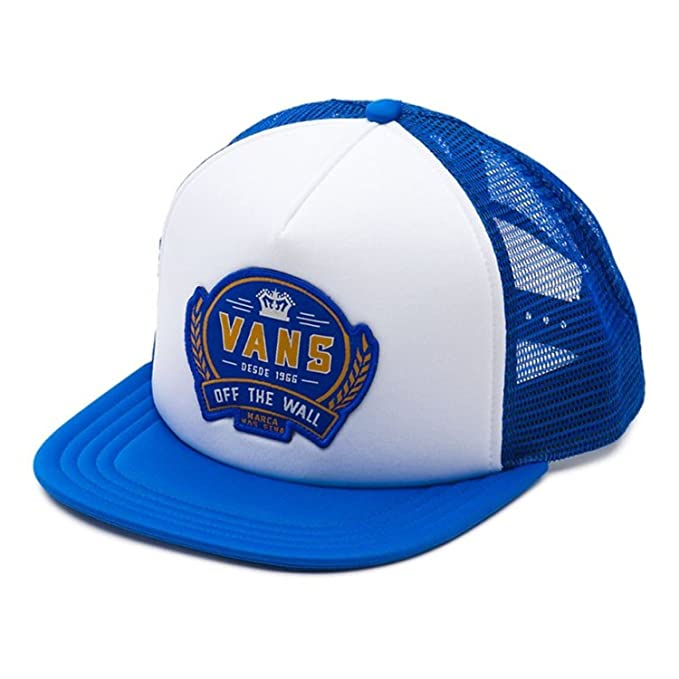 3d1460c064d Vans Men s Cold One Snapback Trucker Hat Cap - White Victoria Blue ...