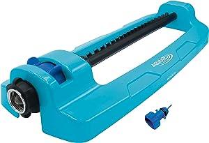 Aqua Joe SJI-OMS20 4,400 Sq Ft Coverage Indestructible Jumbo Oscillating Sprinkler, Metal Base