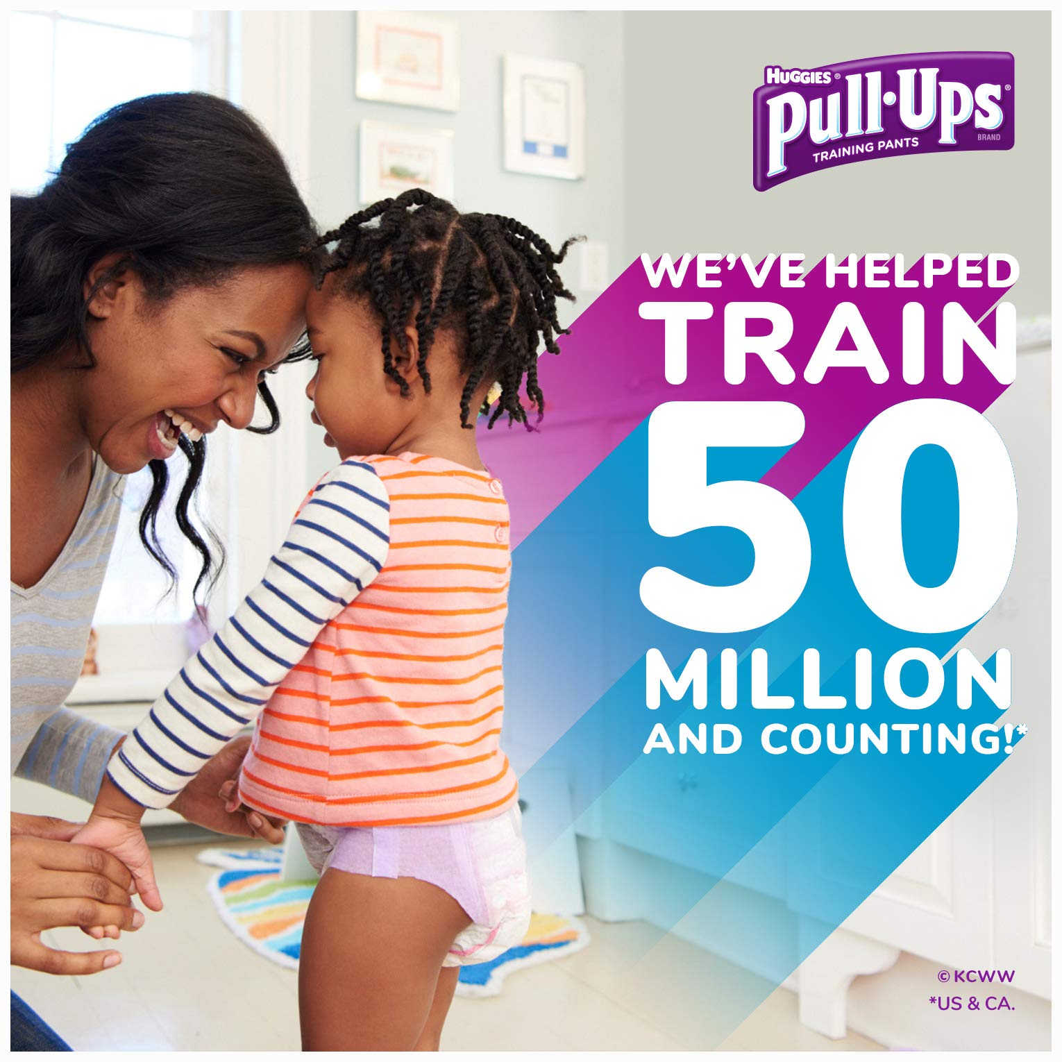 Pull-Ups Night-Time Potty Training Pants for Girls, 2T-3T (18-34 lb.), 23 Ct.- Pack of 4 (Packaging May Vary) by Pull-Ups (Image #4)