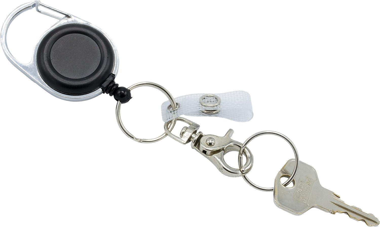 ... 1 Stück Ausweishalter Schlüsselanhänger JoJo starke Feder reißfeste Schnur