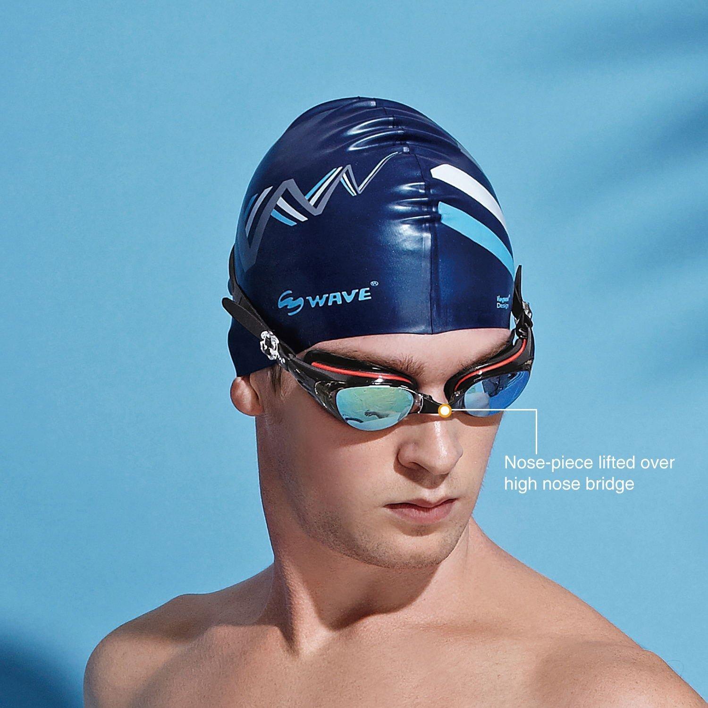 c2d2bbde5fa Amazon.com   wave Prescription Unisex Swim Goggles with Vision Mirror Coated