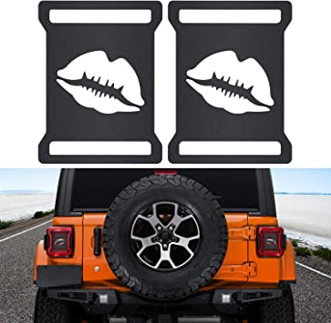 2 Pack Sunluway Taillights Covers Aluminum Rear Taillights Light Guards Tail Light Cover Matte Black Protector Accessories for 2018 Jeep Wrangler JL Sport//Sports Lip Style