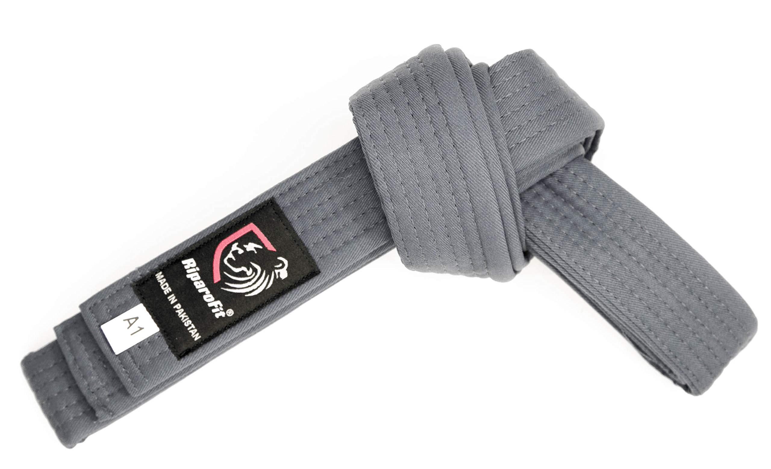 RiparoFit Brazilian Jiu Jitsu BJJ Pro Belts (Gray, K2) by RiparoFit