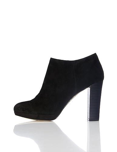 89fc220a32f73 FIND Bottines Talons Hauts Femme  Amazon.fr  Chaussures et Sacs
