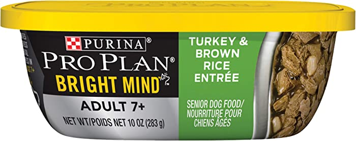 Purina Pro Plan Senior 7+ Brain Support, High Protein Senior Dry Dog Food & Wet Dog Food (Packaging May Vary)