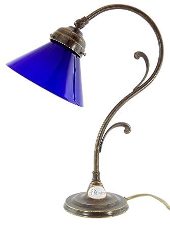 Lámpara latón bruñido estilo ministeriale de mesa, escritorio ...