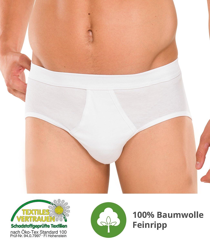 a6caac8ba4 UNWAGO Herren Slip Feinripp mit Eingriff 5er Pack - Unterhose Feinripp aus  100% Baumwolle - Farbe Weiss - Größe 6 (L): Amazon.de: Bekleidung