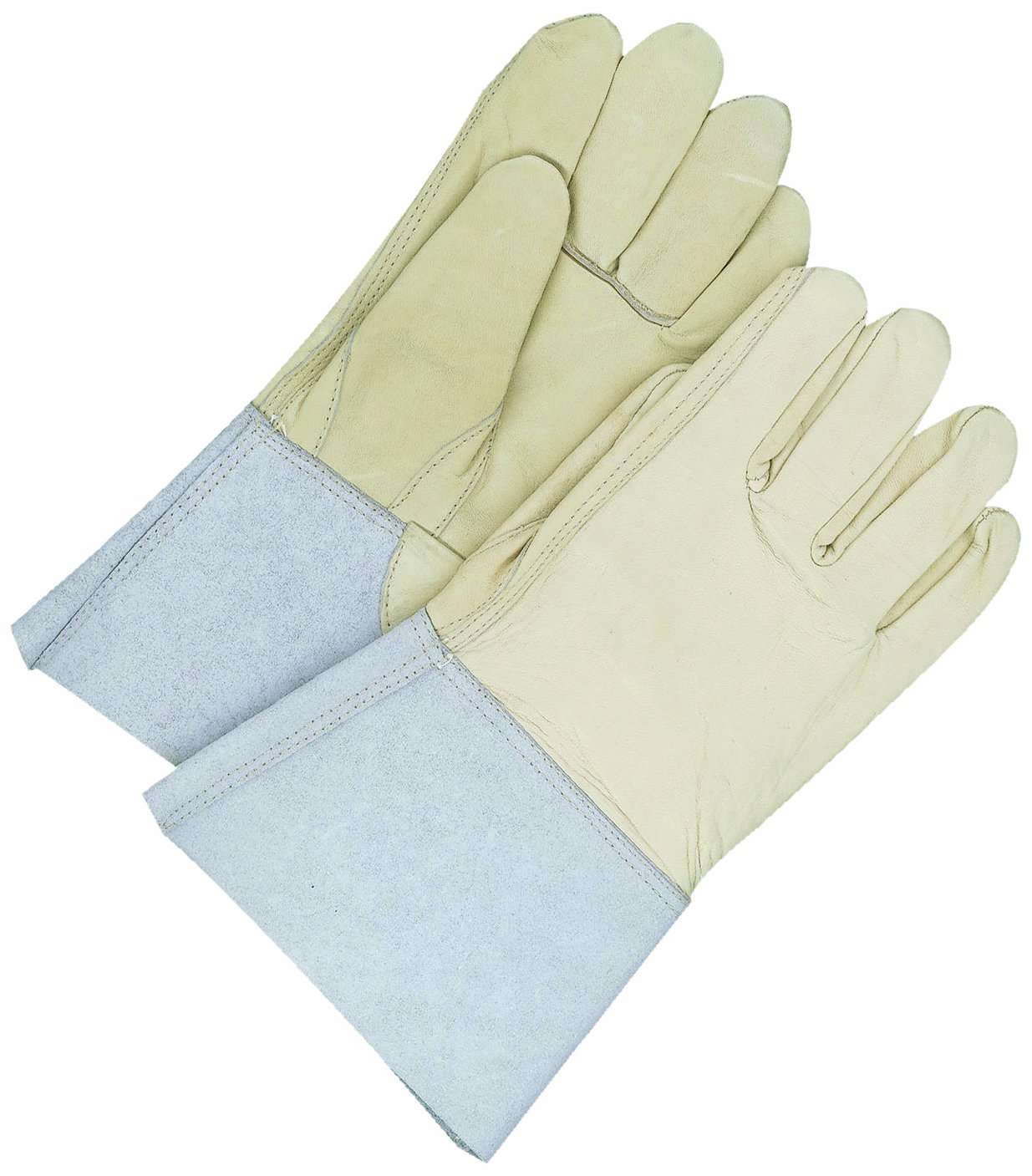 X-Large BDG 60-1-1274-12 Leather Welding Glove with Gauntlet Cuff