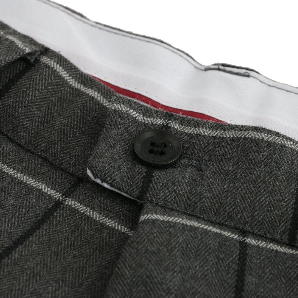Hanayome Mens Eclo Glen Plaid Classic-Fit Flat Front Dress Suit Separate Pant