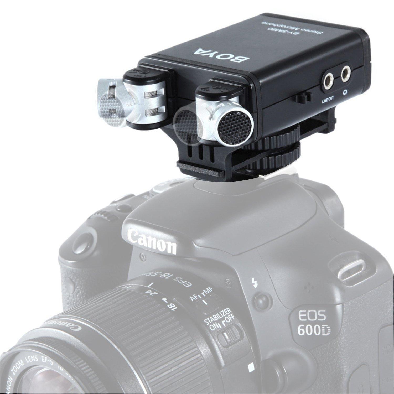 BOYA BY-SM80 Professional Dual Stereo XY Kondensator-Mikrofon mit echtzeit Sprachmonitor für Canon 5D2 6D 750D Nikon D800 D600 Sony Panasonic SLRs Kameras & Camcorder BY--SM8