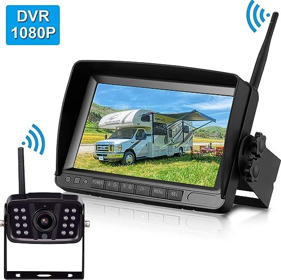 Leekooluu 1080p Digital Wireless Backup Camera 7 High Speed Observation Dvr System For Rvs Travels Trailers Trucks Full Quad Split Screen Ip69k