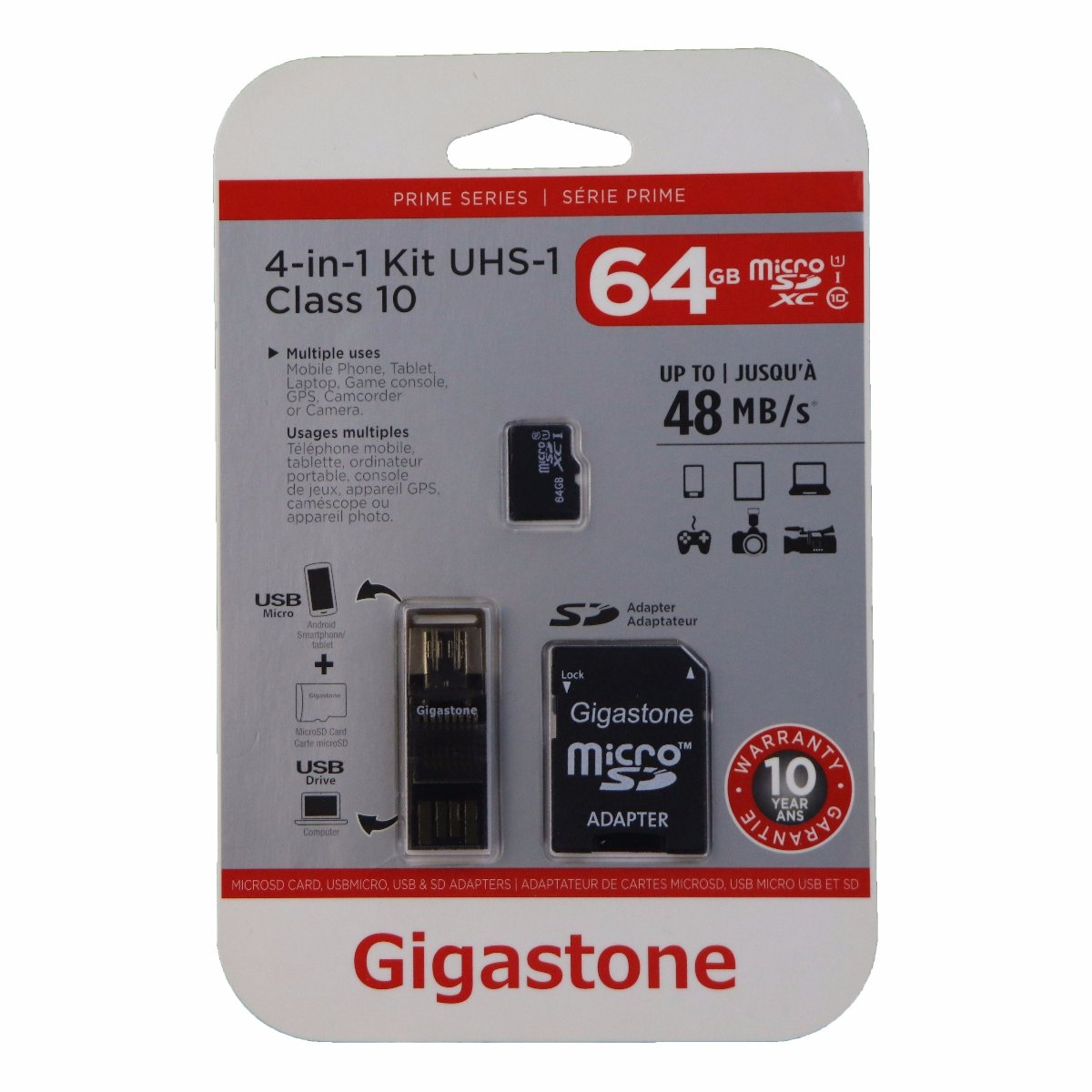 Gigastone - 4IN1 64GB microSD Mobile Kit