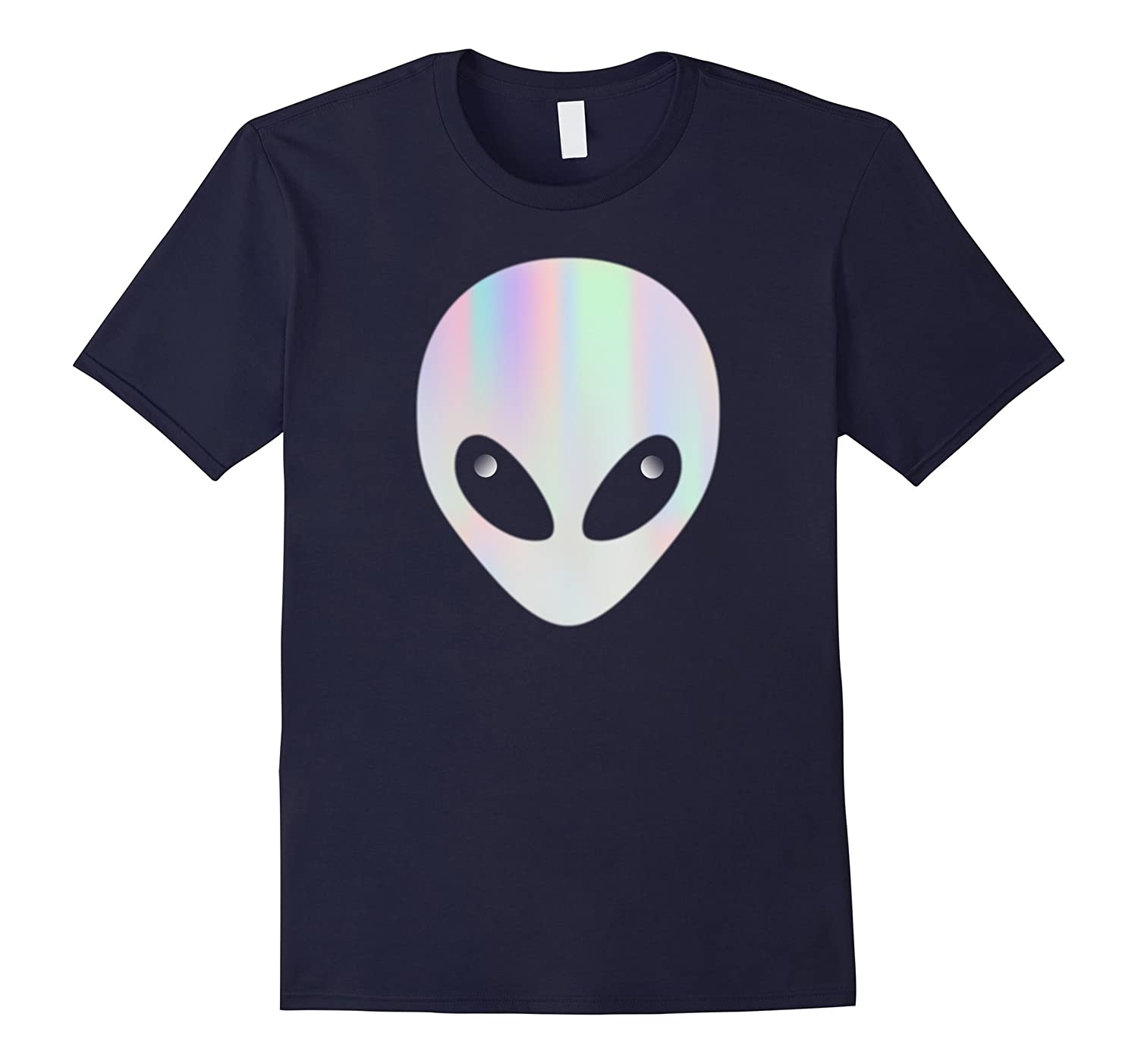 ALIEN HEAD T SHIRT HOLOGRAPHIC VAPORWAVE AESTHETIC-TH
