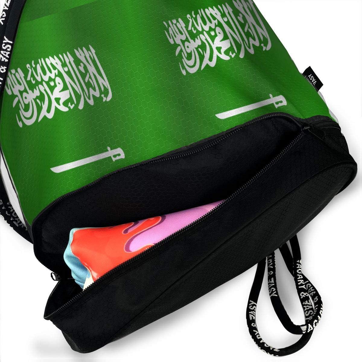 Drawstring Backpack Flag Of Saudi Arabia Bags