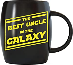 Fathers Day Gift for The Best Uncle In The Galaxy Funny Novelty Gag Gifts for The World's Most Awesome Coolest and Greatest Uncles Ever Cool Ceramic Coffee Mugs Tea Cup for Birthday or Christmas