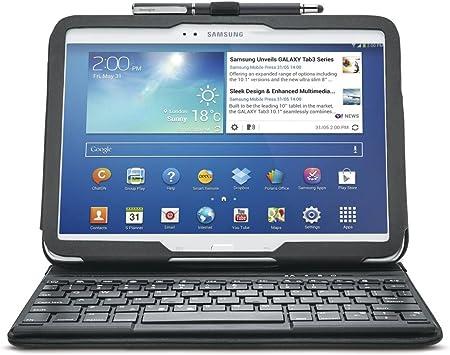 Kensington KeyFolio - Funda para Tablet Samsung Galaxy Tab 3 10.1 (Teclado inalámbrico Bluetooth), Negro
